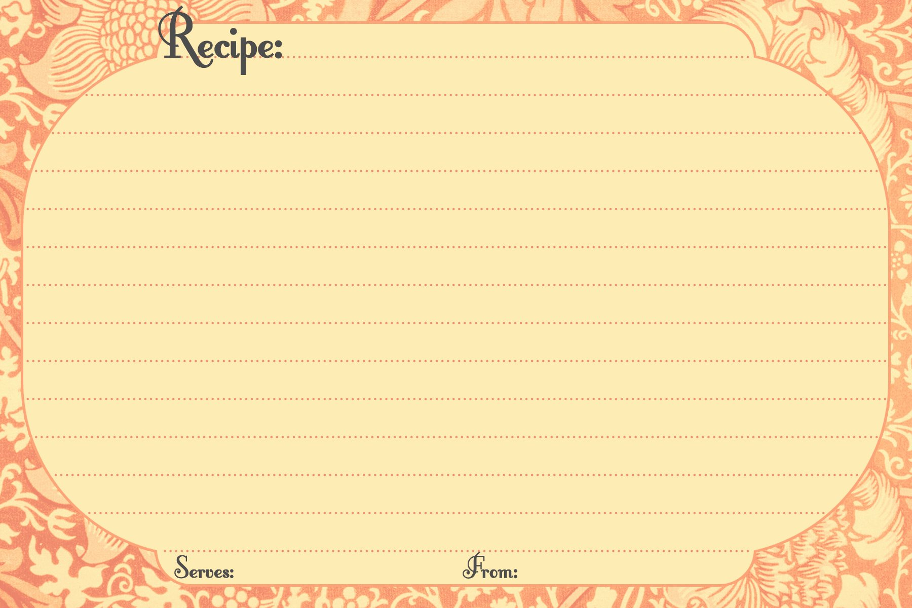 Direction Card Template Microsoft Word Elegant Free Printable Recipe Cards