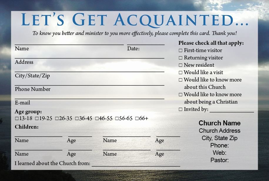 Direction Card Template Microsoft Word Fresh Church Visitor Card Template Birthday Ideas