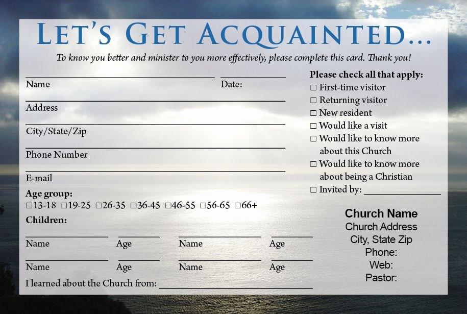 Direction Card Template Microsoft Word Fresh Church Visitor Card Template Birthday Ideas