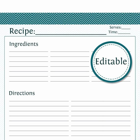 Direction Card Template Microsoft Word Fresh Recipe Card Full Page Editable Printable Pdf by organizelife