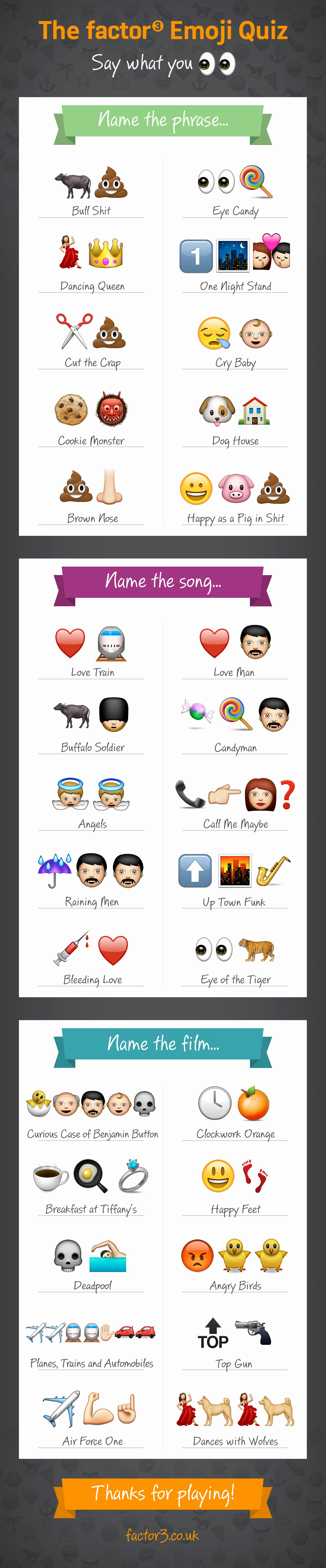 Dirty Emoji Text Combinations Unique the Factor 3 Emoji Binations Quiz Factor 3