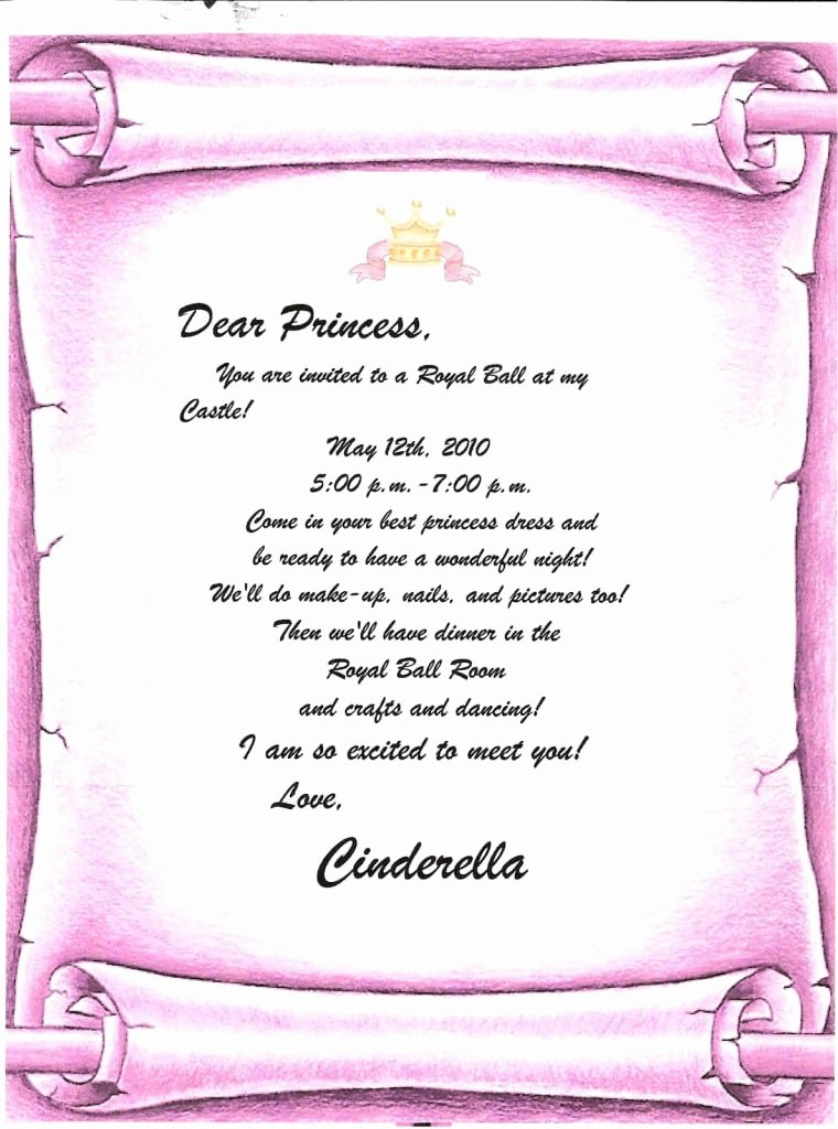 Disney Princess Invitation Templates Free Awesome Disney Princess Invitations Free Template