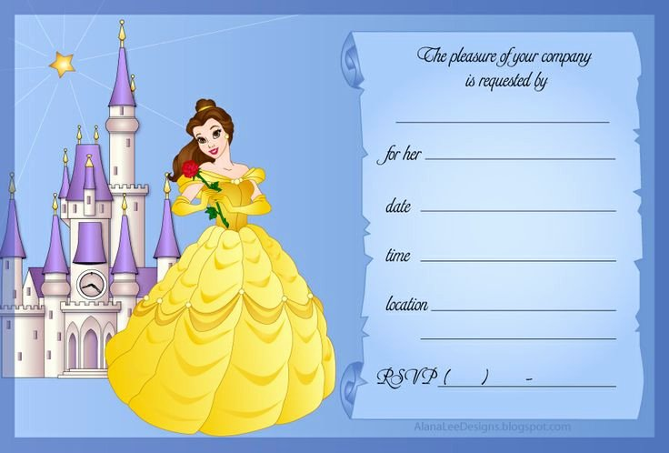 Disney Princess Invitation Templates Free Best Of Disney Princess Invitations
