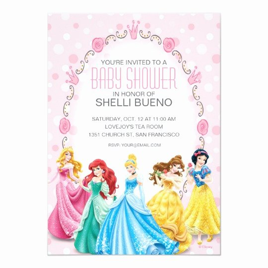 Disney Princess Invitation Templates Free Best Of Disney Princess It S A Girl Baby Shower Card