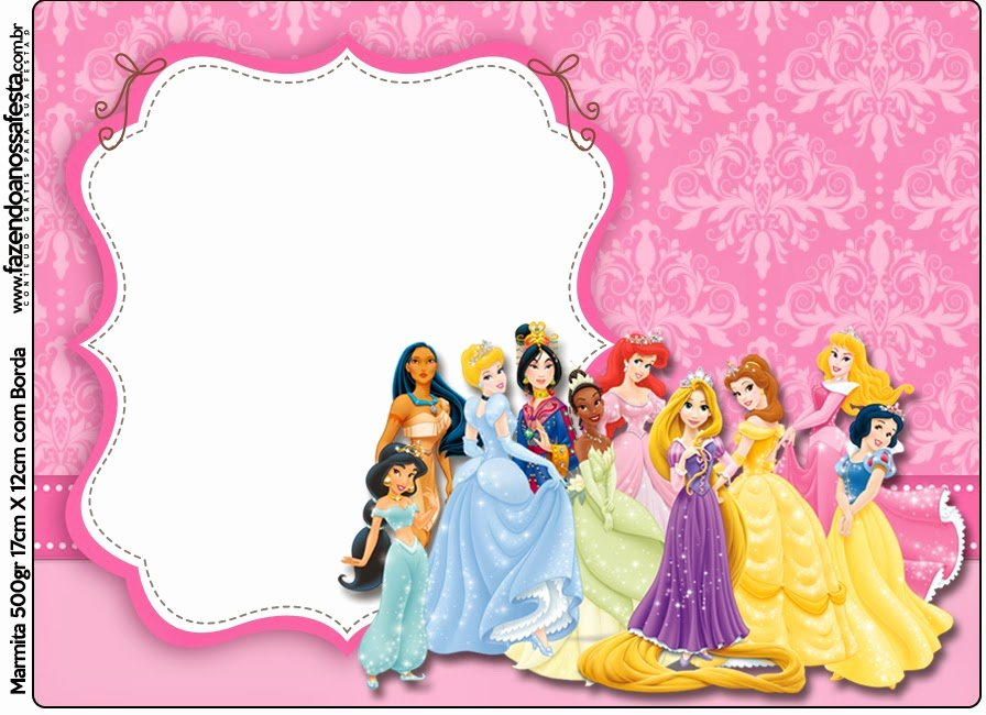 Disney Princess Invitation Templates Free Best Of Disney Princess Party Free Printable Candy Bar Labels