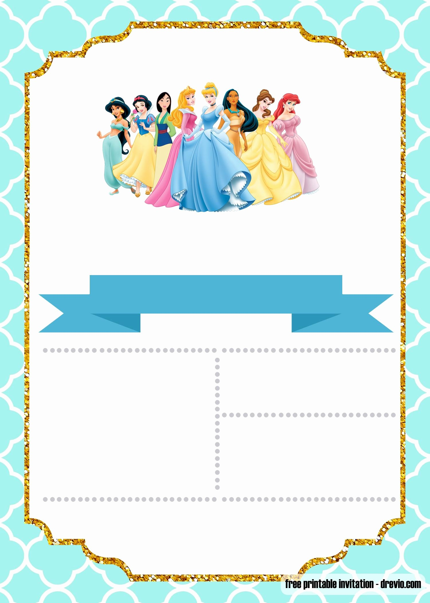 Disney Princess Invitation Templates Free Best Of Free Disney Princess Invitation Template for Your Little