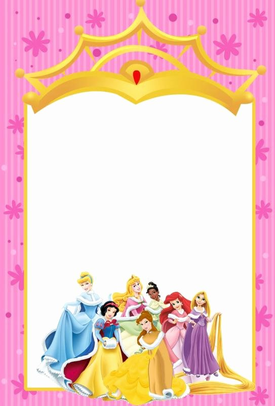 Disney Princess Invitation Templates Free Best Of Princess Invitation Template