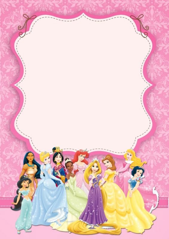 Disney Princess Invitation Templates Free Inspirational Free Templates for Princess Party Invitation Cards