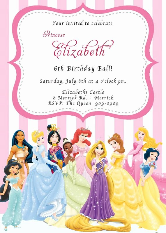 Disney Princess Invitation Templates Free Inspirational Pin by Amber Dodge Cromwell On Lucy S 4th Birthday
