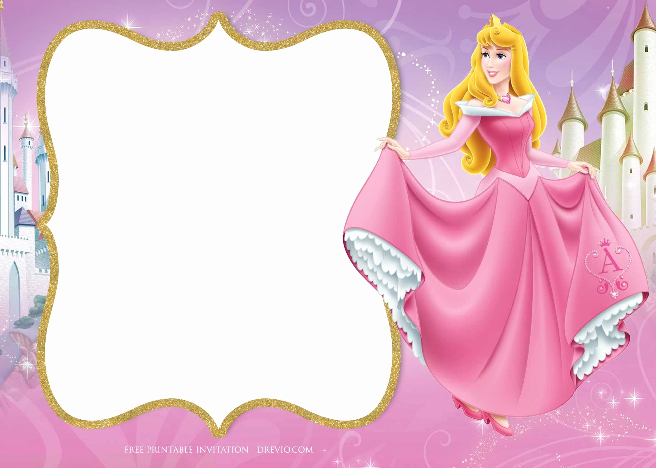 Disney Princess Invitation Templates Free Luxury Free Printable Princess Aurora Sleeping Beauty Invitation