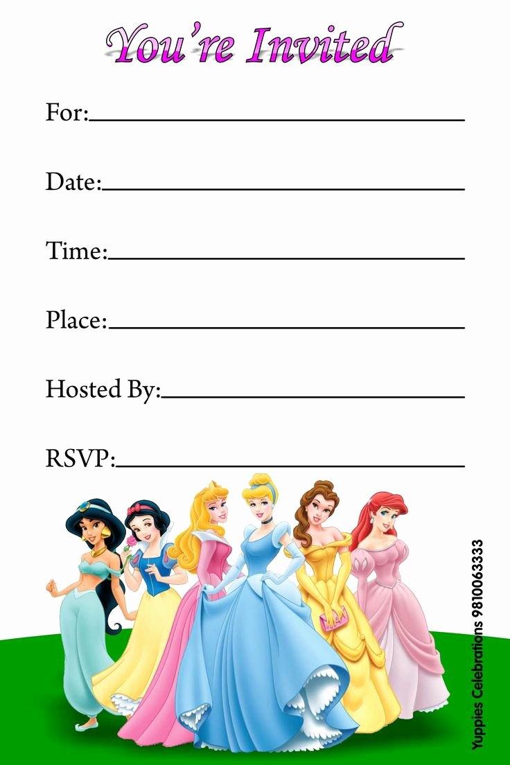 Disney Princess Invitation Templates Free New top 25 Best Disney Princess Invitations Ideas On