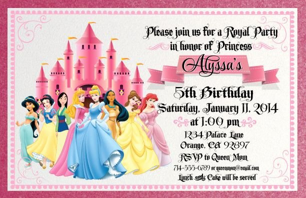 Disney Princess Invitation Templates Free Unique Princess and Pirate Birthday Invitations