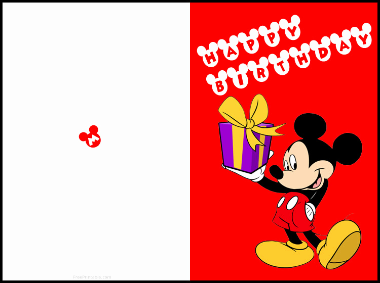 Disney Printable Birthday Cards Awesome Free Printable Mickey Mouse Birthday Cards