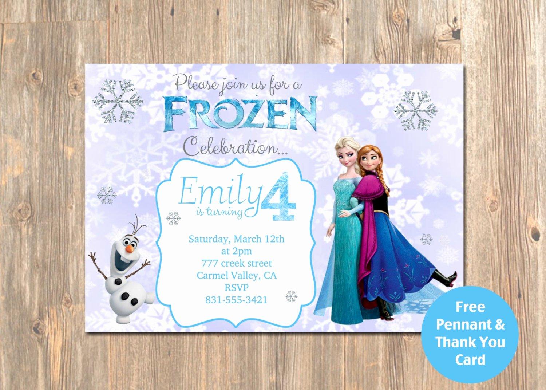 Disney Printable Birthday Cards Fresh Disney S Frozen Birthday Invitation Printable by