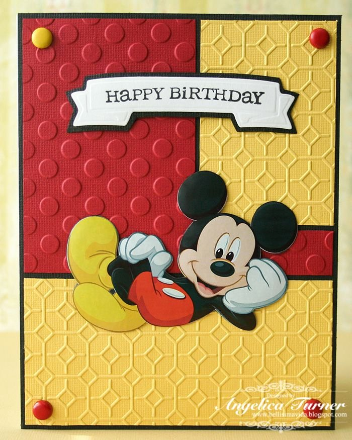 Disney Printable Birthday Cards Fresh Layout Idea Cricut Mickey and Friends