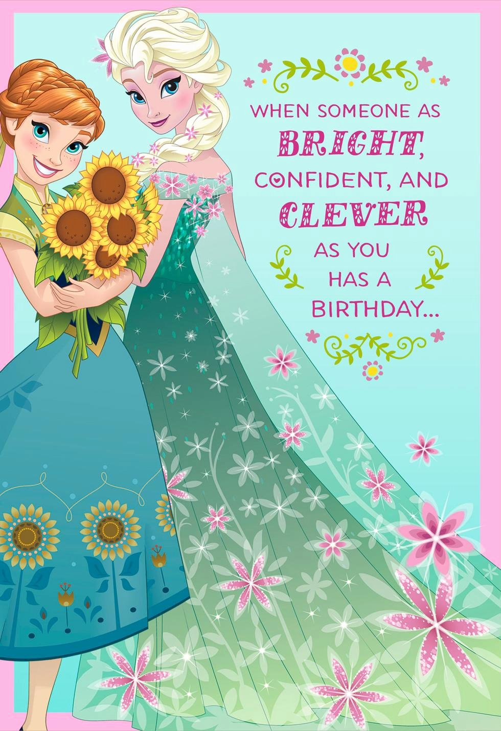 Disney Printable Birthday Cards Lovely Disney Frozen Best Day Ever Musical Birthday Card