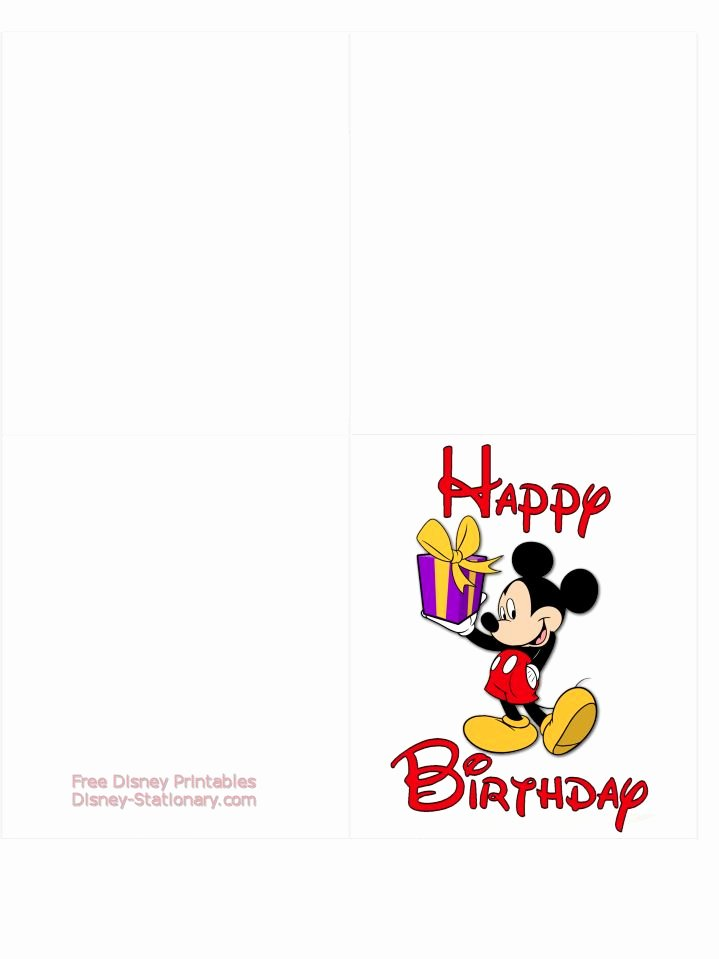 Disney Printable Birthday Cards New Mickey Mouse Printable Birthday Card Disney Stationary