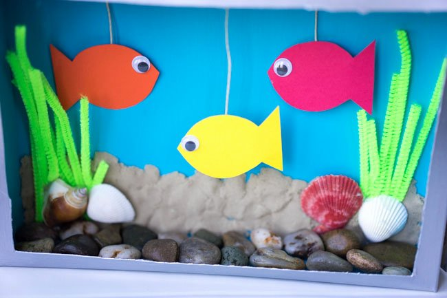 Diy Aquarium Background Paper Inspirational Cereal Box Crafts for Kids