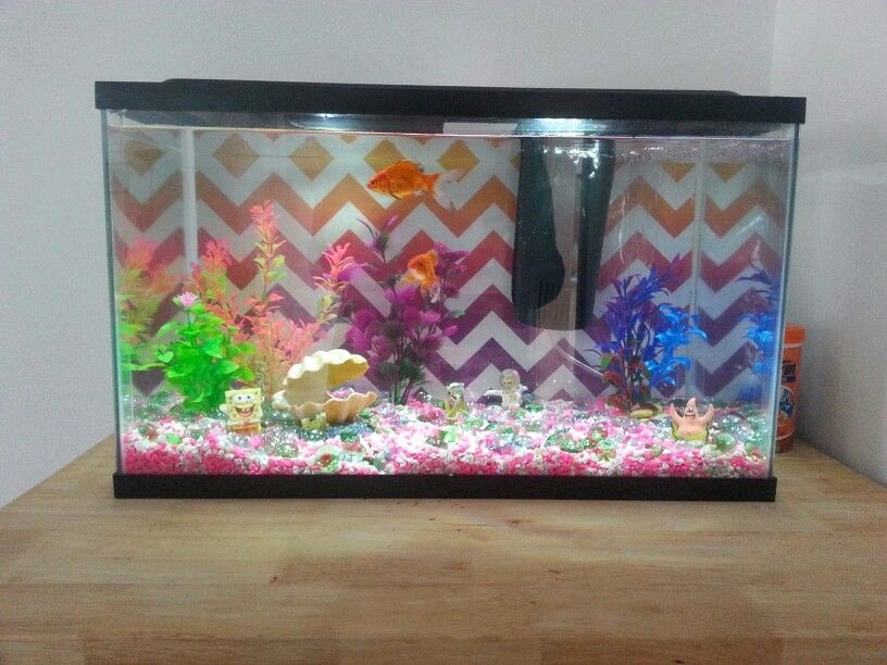 Diy Aquarium Background Paper New Use A Leftover Decorative T Bag as the Background for