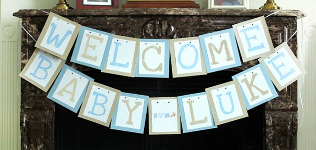 Diy Baby Shower Banner Template Awesome Lots Of Baby Shower Banner Ideas Decorations
