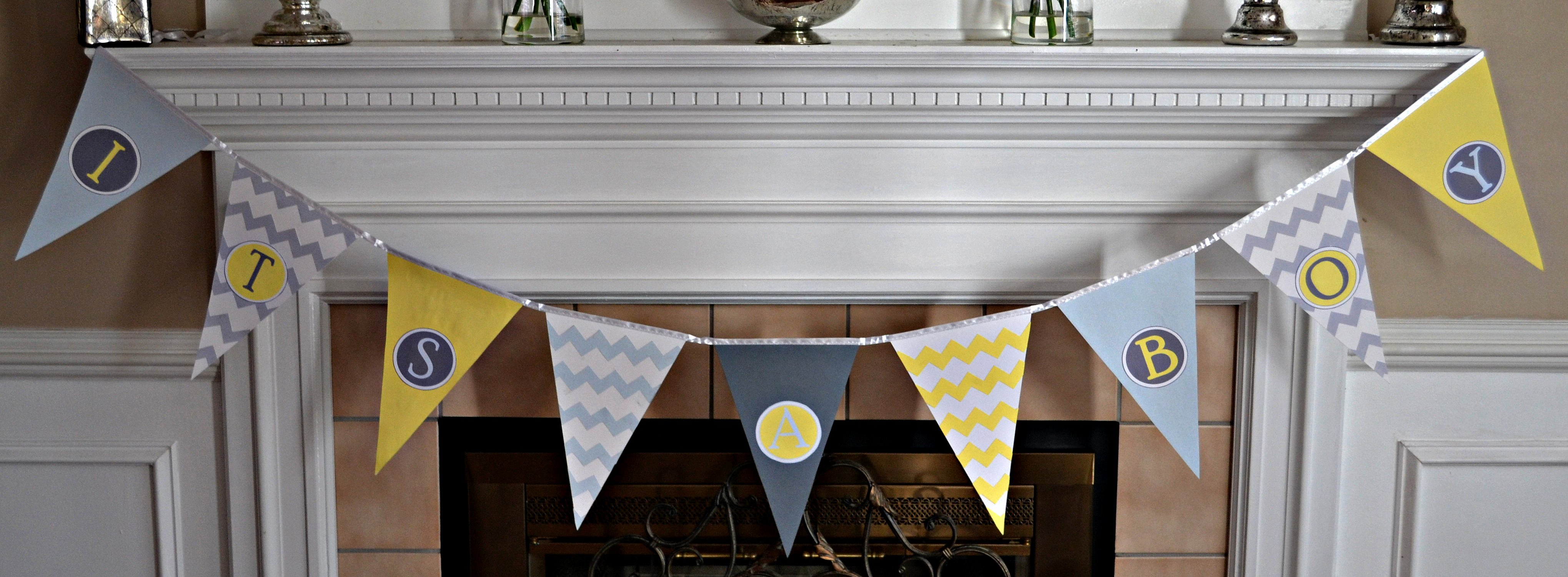 Diy Baby Shower Banner Template Beautiful Baby Shower Pennant Banner Tutorial
