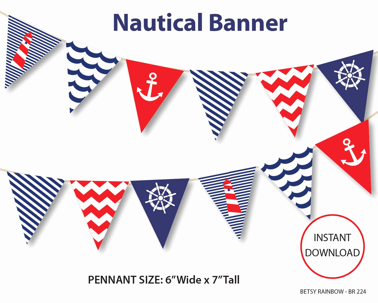 Diy Baby Shower Banner Template Beautiful Nautical Banner Printable Banner Nautical Diy Party Navy