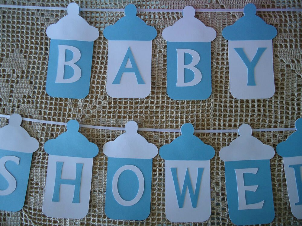 Diy Baby Shower Banner Template Best Of Baby Shower Bunting Banner Flags Garland Blue White Baby