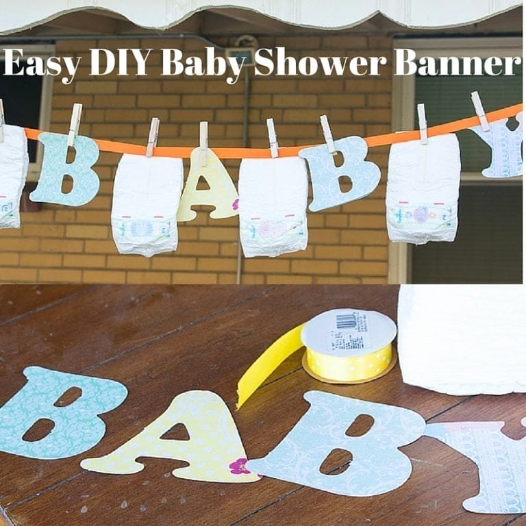 Diy Baby Shower Banner Template Fresh Diy Baby Shower Banner