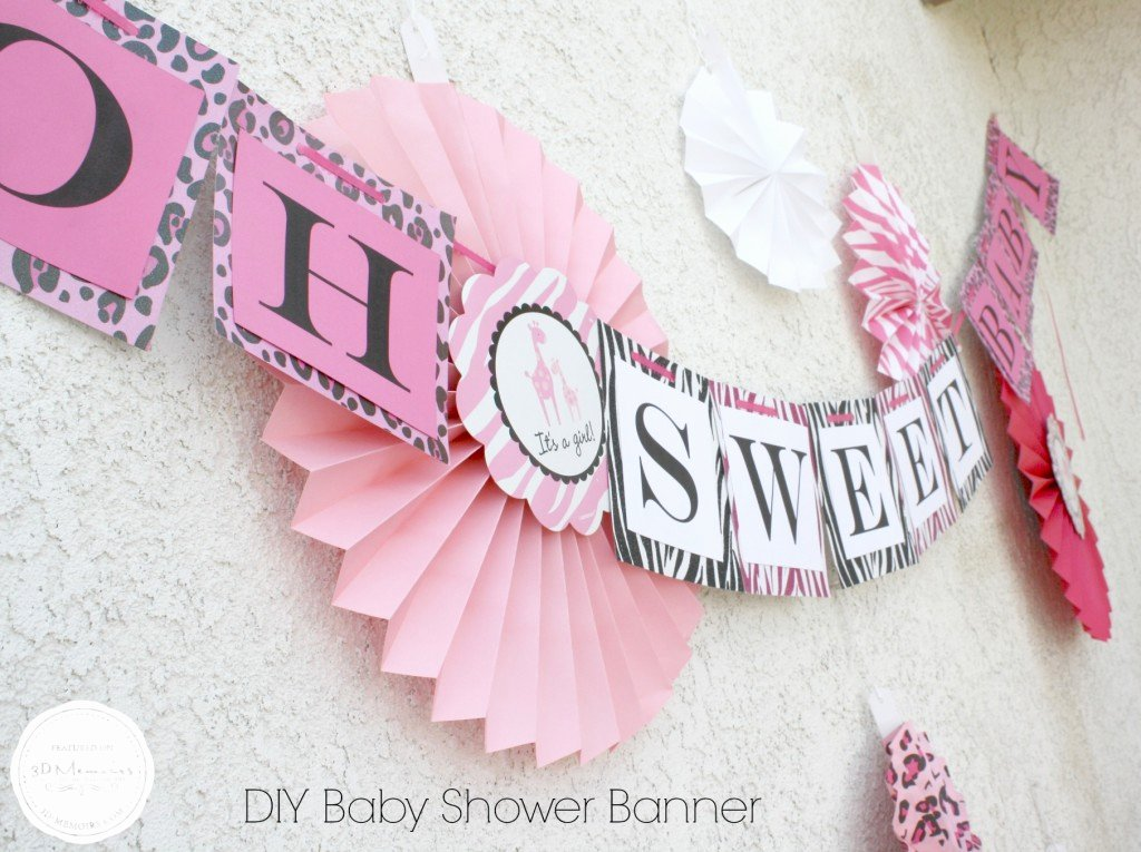 Diy Baby Shower Banner Template Lovely Diy Baby Shower Candy Buffet Project Nursery