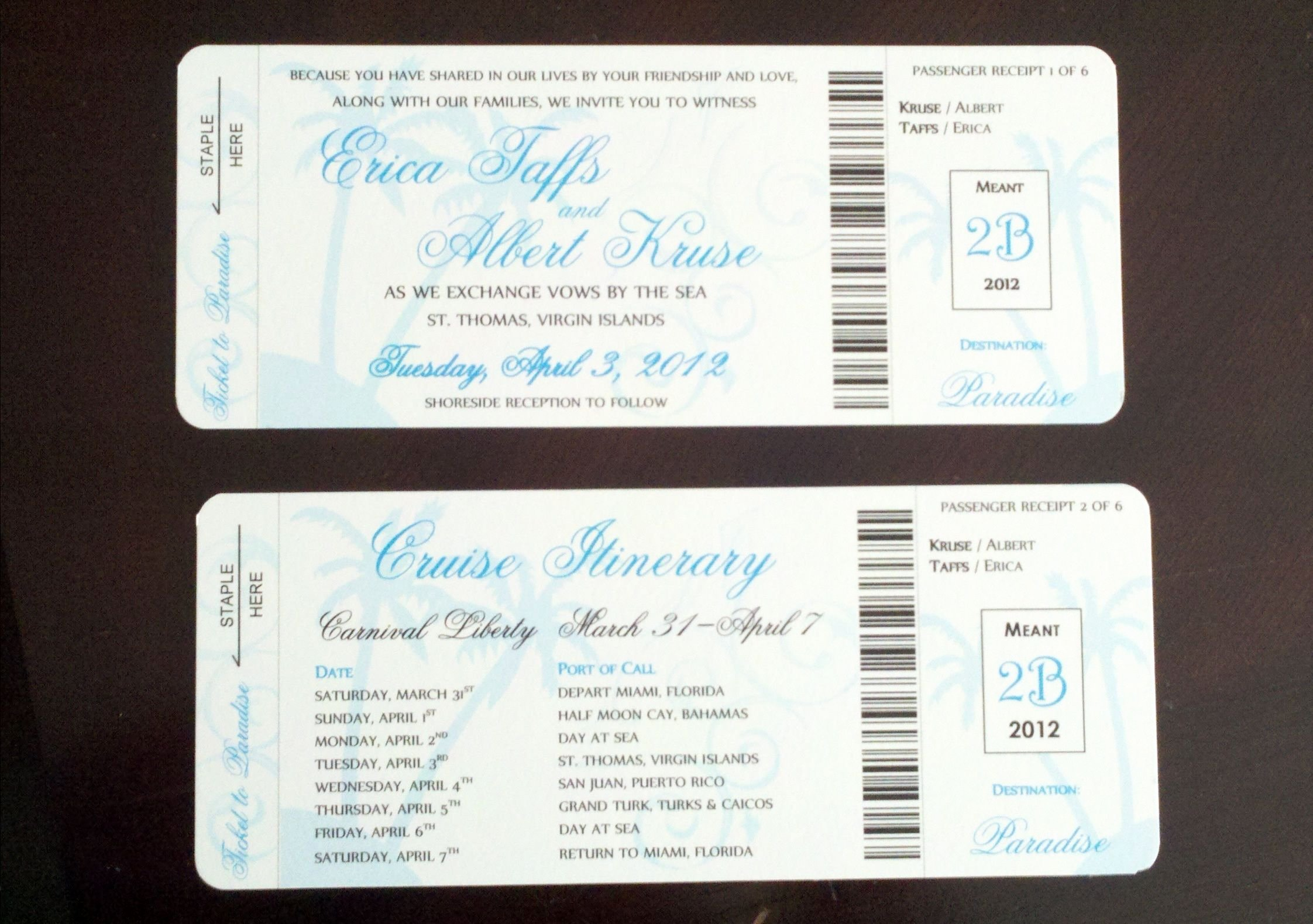 Diy Boarding Pass Invitations Lovely Cruise Boarding Pass
