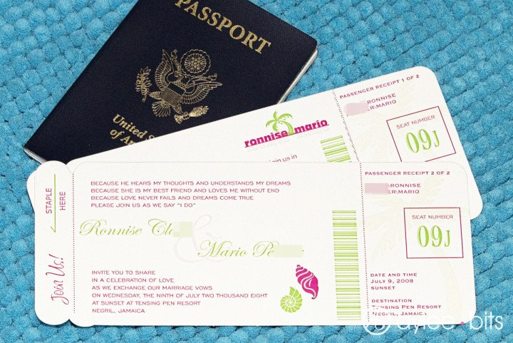 Diy Boarding Pass Invitations Lovely Diy Boarding Pass Invitation Save the Date