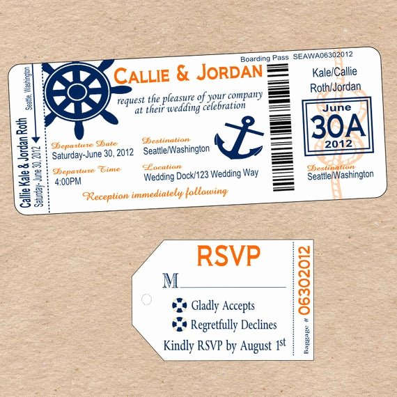 Diy Boarding Pass Invitations Luxury Items Similar to Nautical Boarding Pass Invitation