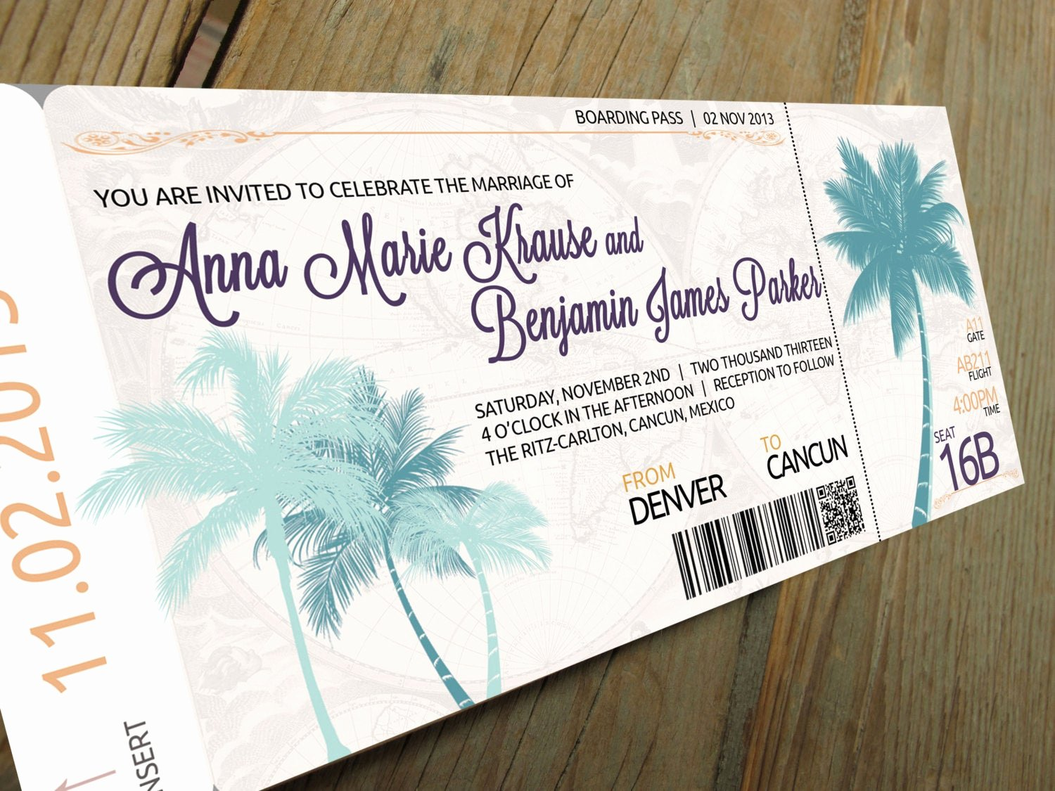 Diy Boarding Pass Invitations New Boarding Pass Wedding Invitation Set by Travelerspaperie