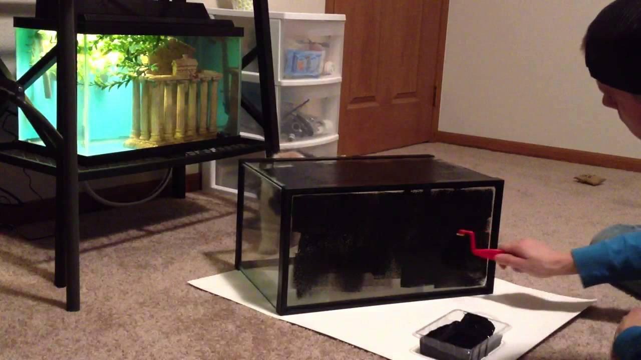 Diy Fish Tank Background Paper Fresh Black Aquarium Background How to Diy