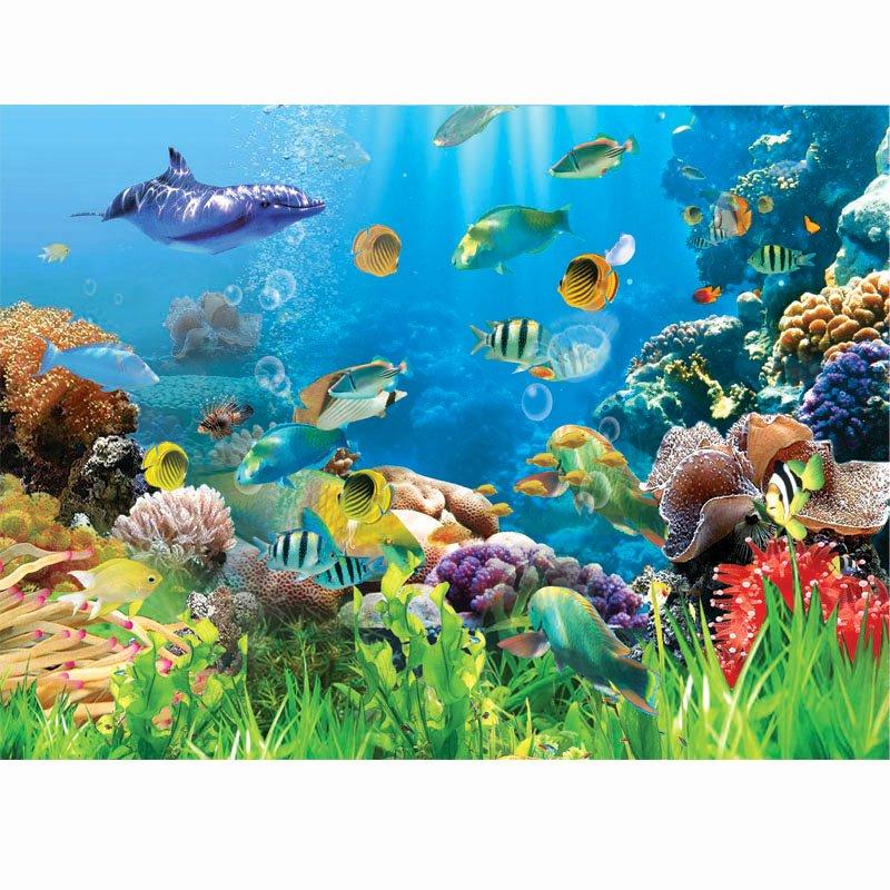 Diy Fish Tank Background Paper Lovely [usd 21 07] Custom Aquarium Background Paper Fish Paste