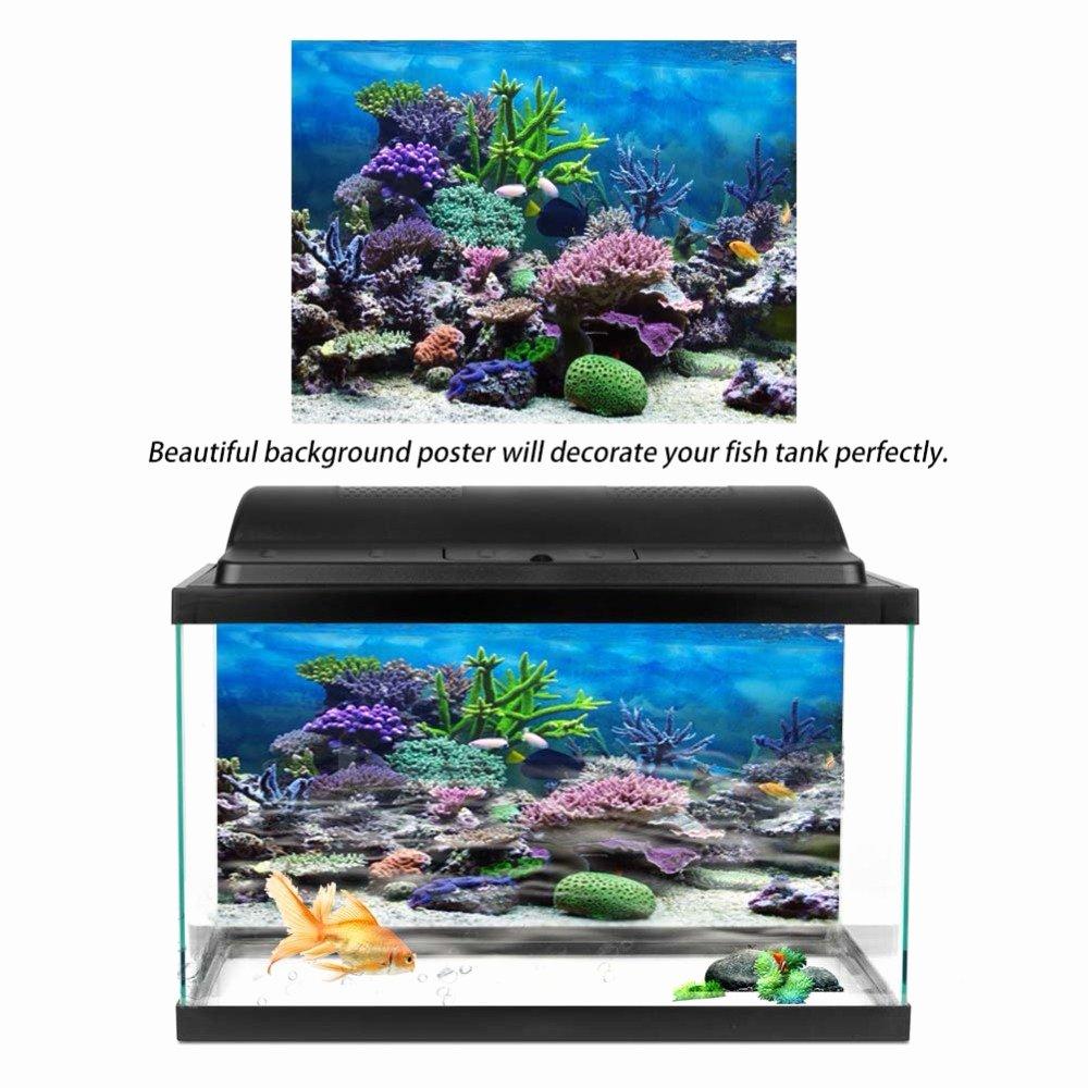 Diy Fish Tank Background Paper New Pvc 3d Effect Aquarium Poster Ocean Natural Landscape
