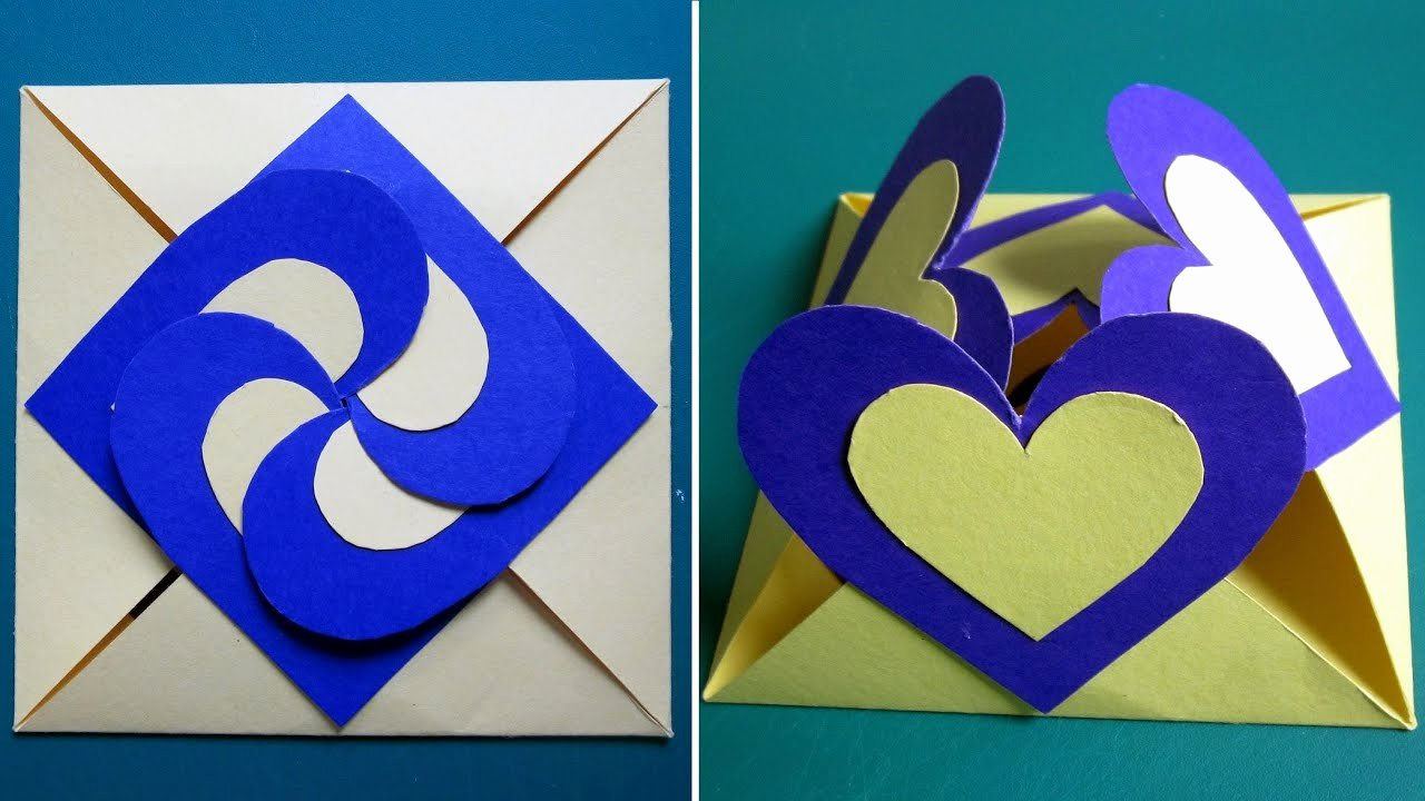 Diy Greeting Cards Template Beautiful Love Card Sealed with Hearts Learn How to Make A Heart