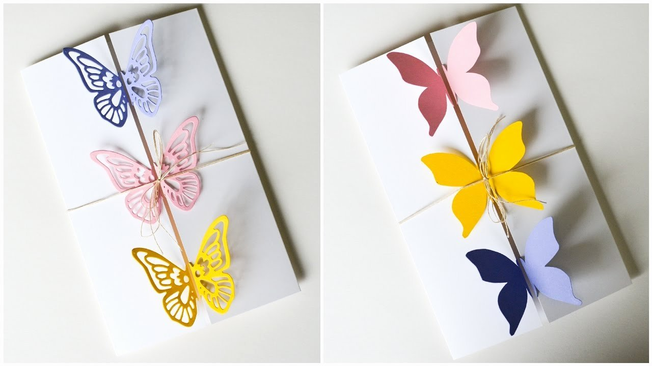Diy Greeting Cards Template Fresh How to Make Greeting Card butterflies Birthday Mother S