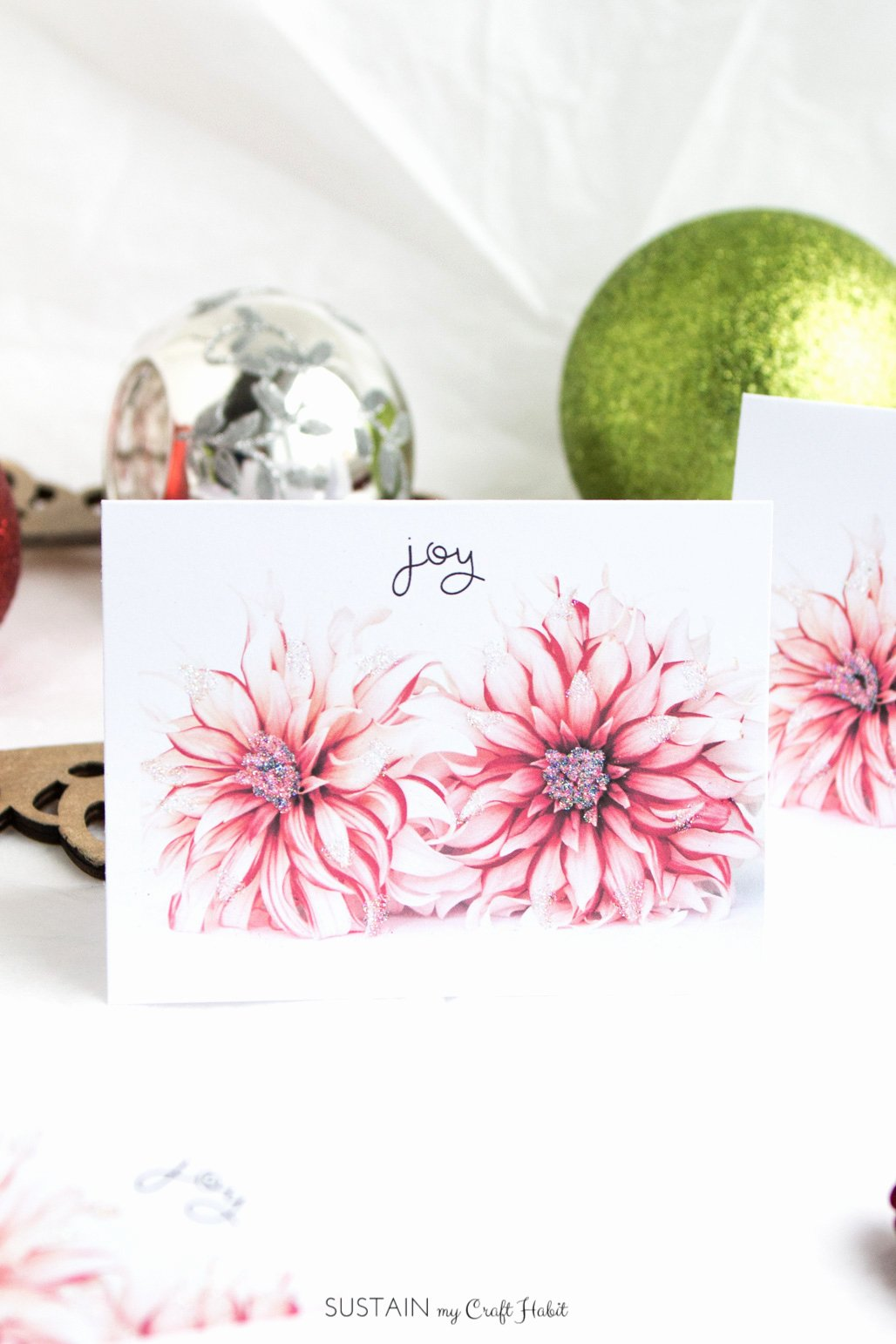 Diy Greeting Cards Template Inspirational Free Printable Diy Christmas Cards Floral Joy – Sustain