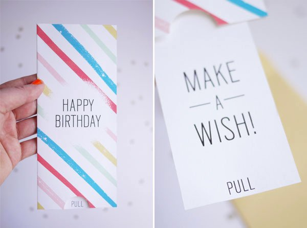 Diy Greeting Cards Template Inspirational Printable Birthday Pull Card