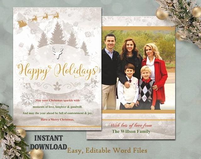 Diy Greeting Cards Template Lovely Christmas Card Template Holiday Greeting Card