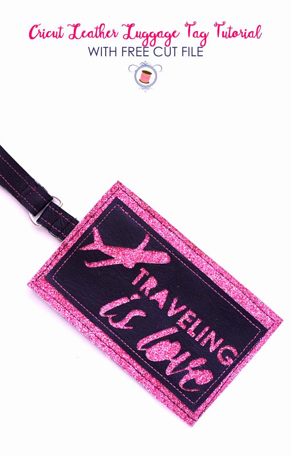Diy Luggage Tags Template Beautiful Diy Leather Cricut Luggage Tags Tutorial Free Svg Sew