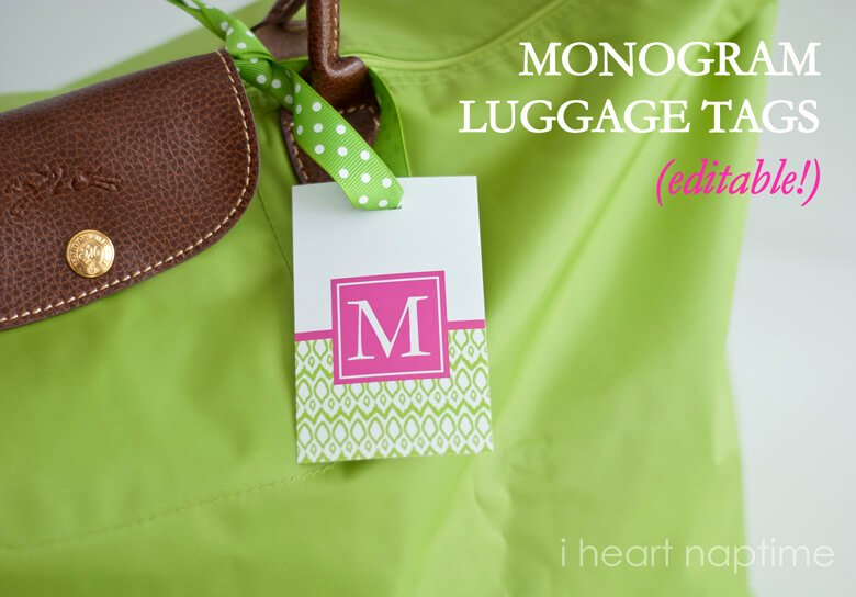 Diy Luggage Tags Template Fresh Printable Luggage Tags