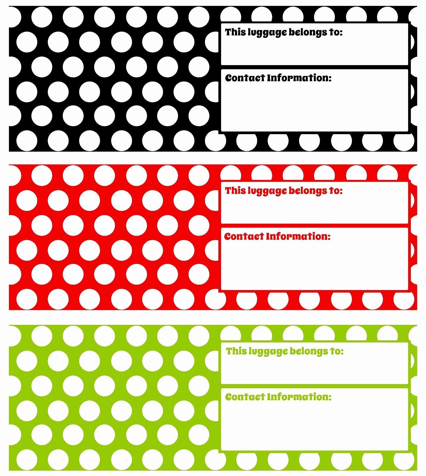 Diy Luggage Tags Template Inspirational Printable Luggage Tags Darling Doodles