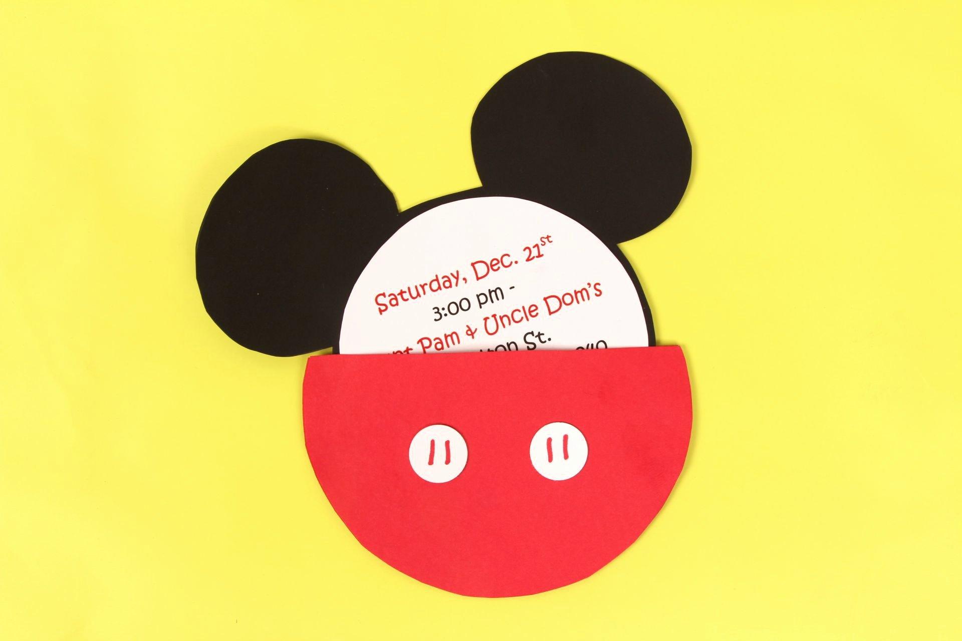Diy Mickey Mouse Birthday Invitations Beautiful A Diy Mickey Mouse Party Invitation Idea for A Mickey