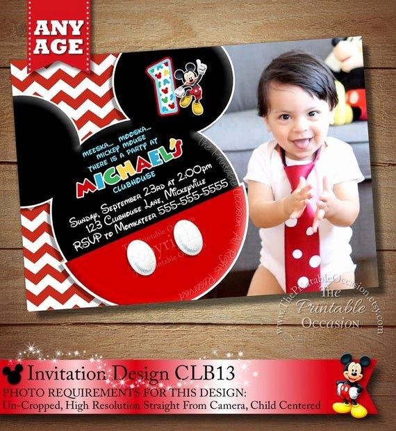 Diy Mickey Mouse Birthday Invitations Beautiful Items Similar to Huge Selection Chevron Mickey Mouse