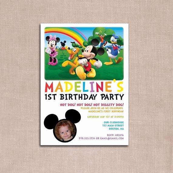 Diy Mickey Mouse Birthday Invitations Best Of Mickey Mouse Clubhouse Birthday Invitation Diy Printable