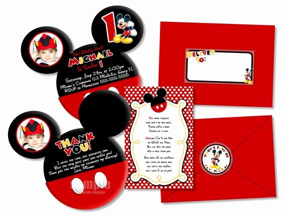 Diy Mickey Mouse Birthday Invitations Elegant Diy 4x6 or 5x7 Mickey Mouse Invitation Mickey Clubhouse