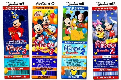 Diy Mickey Mouse Birthday Invitations Inspirational Mickey Mouse Clubhouse Birthday Party Ticket