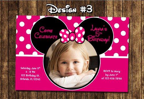 Diy Mickey Mouse Birthday Invitations Inspirational Minnie Mouse Birthday Party Invitations Mickey Diy